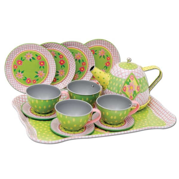 Schylling Childrens Tin Tea Set