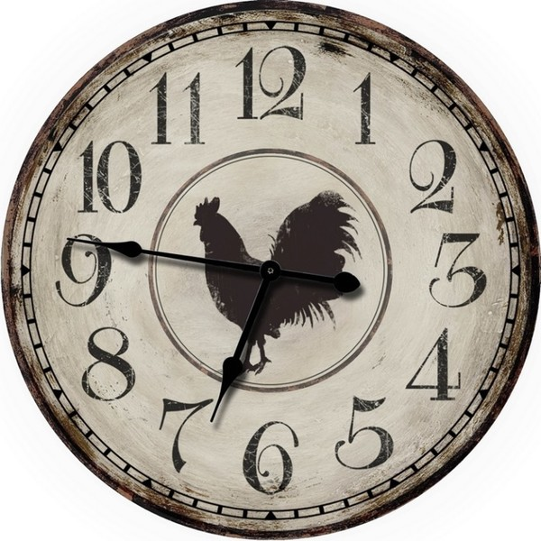 Country Decor Chicken Wall Clock