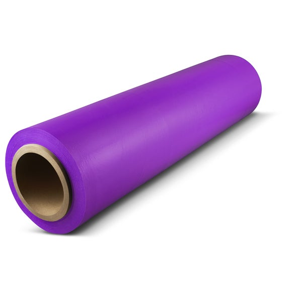 18 In x 1500 Ft x 80 Ga Purple Pallet Hand Wrap Plastic Stretch-Wrap 4 Rolls