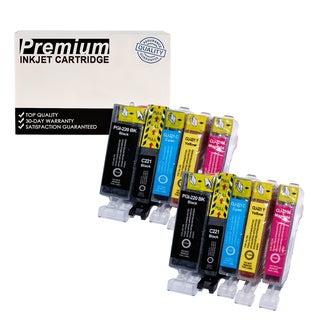 10 PACK Compatible Canon PGI-220XL CLI-221XL KKCYM InkJet Cartridge 2 SETS COMBO