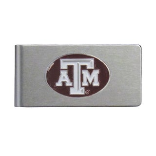 Texas A and M Aggies Sports Team Logo Brushed Metal Money Clip