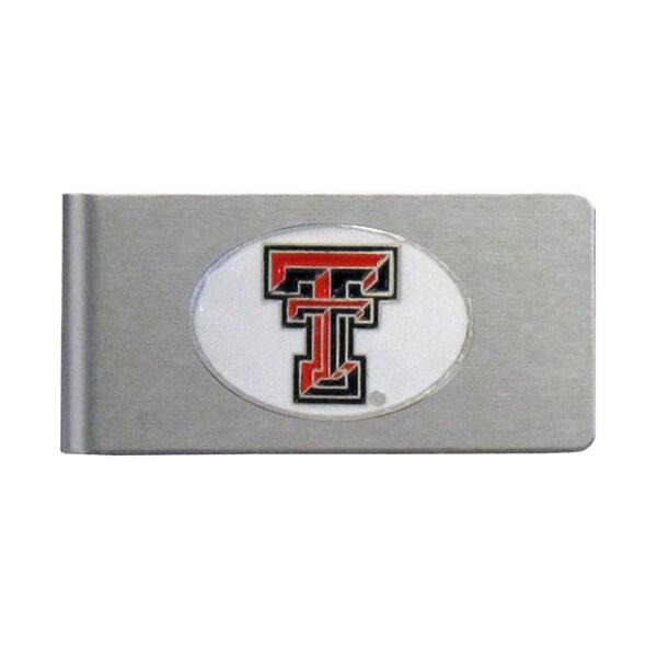 Texas Tech Raiders Sports Team Logo Brushed Metal Money Clip