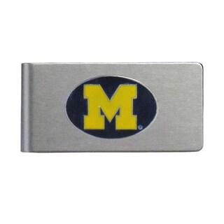 Michigan Wolverines Sports Team Logo Brushed Metal Money Clip