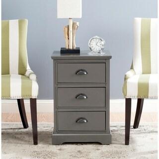 Safavieh Griffin Grey 3-Drawer Storage Side Table