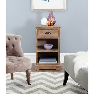 Safavieh Griffin Washed Natural Pine Side Table