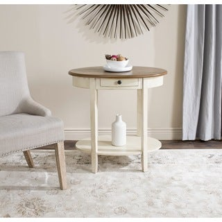 Safavieh Monica Barley/ Oak Oval Storage End Table