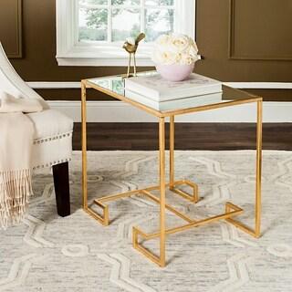 Safavieh Seamus Antique Gold Leaf Accent Table