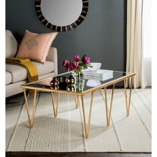 Safavieh Arlene Antique Gold Leaf Coffee Table