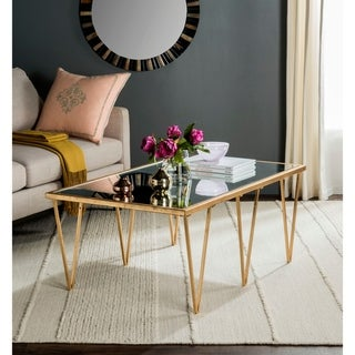 "Safavieh Arlene Antique Gold Leaf Coffee Table - 48"" x 18.3"" x 27"""
