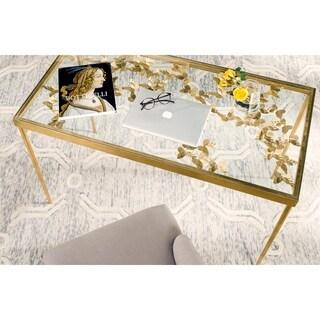 Safavieh Rosalia Butterfly Antique Gold Leaf Desk