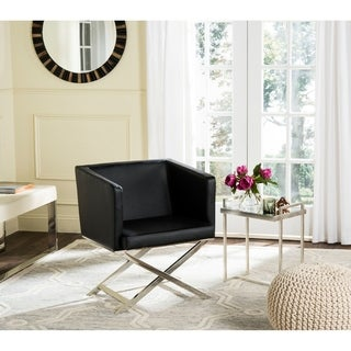 Safavieh Celine Black/ Chrome Accent Chair