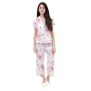 La Cera Women's Short Sleeve Printed PJ Set