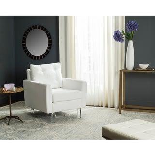 Safavieh Leandra White/ Clear Club Chair