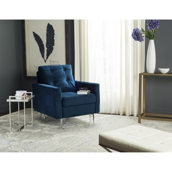 Safavieh Leandra Navy/ Clear Club Chair