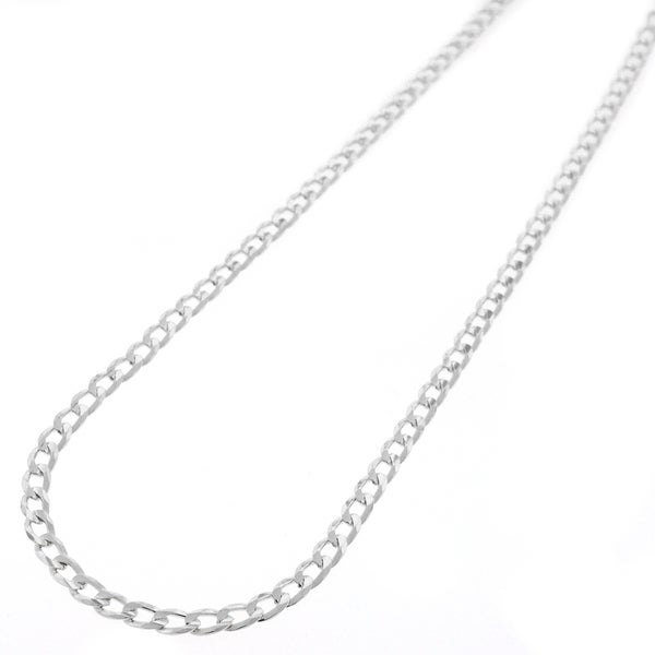 Sterling Silver 3mm Solid Cuban Curb Link ITProLux Chain Necklace