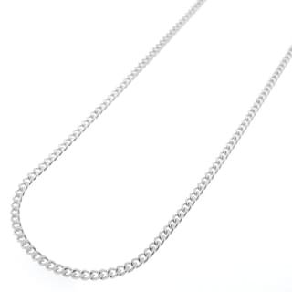 Sterling Silver 2mm Solid Cuban Curb Link ITProLux Chain Necklace