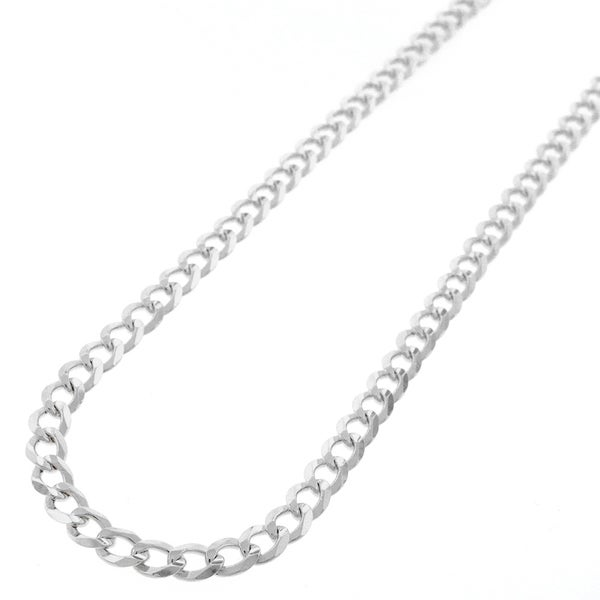 Sterling Silver 5mm Solid Cuban Curb Link ITProLux Chain Necklace