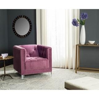 Safavieh Carine Plum/ Clear Club Chair
