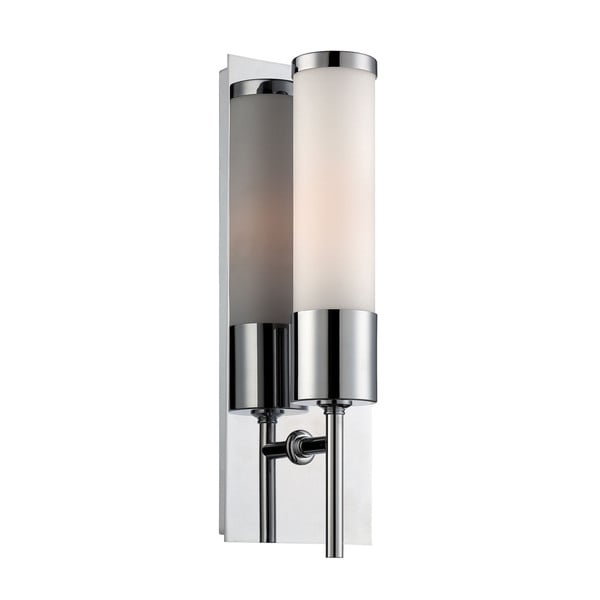 Alico Eve Chrome with White Opal Glass 1-light Sconce