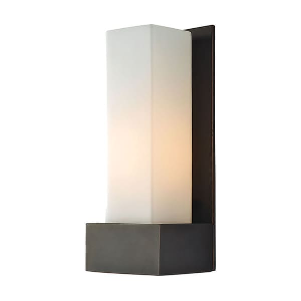 Alico Solo Oil Rubbed Bronze with White Opal Glass 1-light Sconce