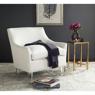Safavieh Wylder White/ Clear Club Chair