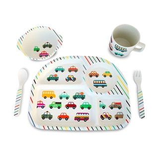 Culina Kids Vehicle Prints 5-piece Dinnerware