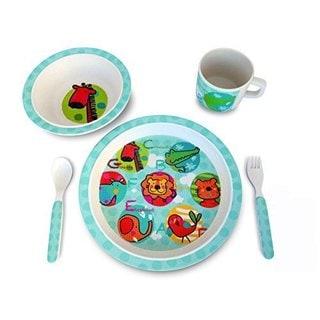 Culina Kids Jungle Animals 5-piece Dinnerware Set