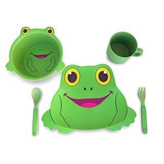 Culina Kids Frog 5-piece Dinnerware Set