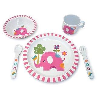 Culina Kids Elephant Melamine 5-piece Dinnerware Set