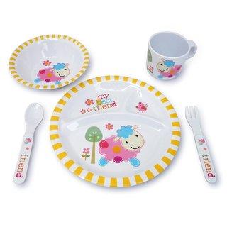 Culina Kids Melamine Lamb 5-piece Dinnerware Set