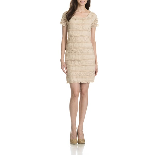 Rabbit Rabbit Rabbit Women's All Over Lace Short Sleeve Dress