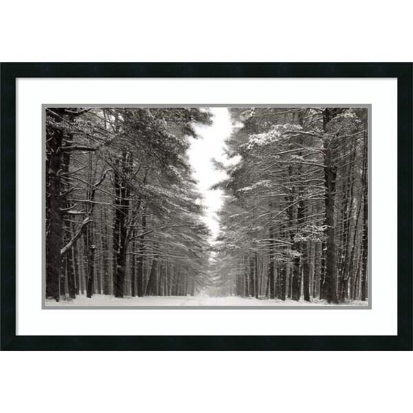 James McLoughlin 'A Snowy Walk IV' Framed Art Print 33 x 23-inch