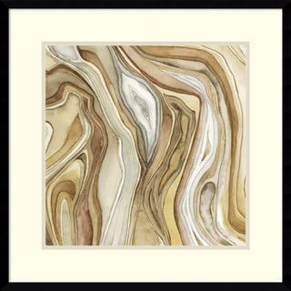 Megan Meagher 'Watercolor Agate II' Framed Art Print 23 x 23-inch