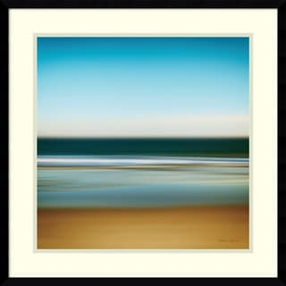 Katherine Gendreau 'Sea Stripes I' Framed Art Print 23 x 23-inch