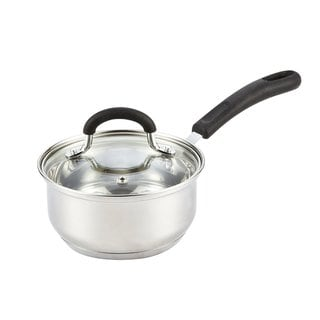 Cook N Home Silver Stainless Steel Cookware 1-quart Medium Sauce Pan with Lid