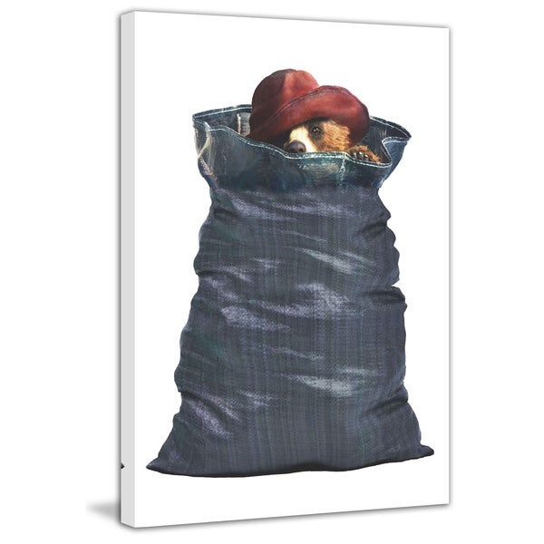 Marmont Hill 'Stuck in a Sack' Paddington Bear Painting Print on Canvas