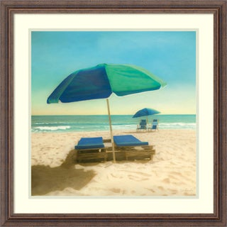 Robin Renee Hix 'Coastal Blues' Framed Art Print 25 x 25-inch