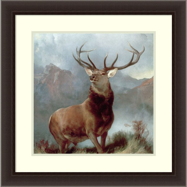 Sir Edwin Landseer 'Monarch of the Glen, 1851' Framed Art Print 26 x 26-inch