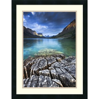 Jason Savage 'St. Mary Lake Glacier National Park' Framed Art Print 20 x 26-inch
