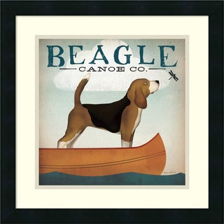 Ryan Fowler 'Beagle Canoe Co.' Framed Art Print 18 x 18-inch