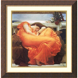 Lord Frederic Leighton 'Flaming June, c.1895' Framed Art Print 28 x 28-inch