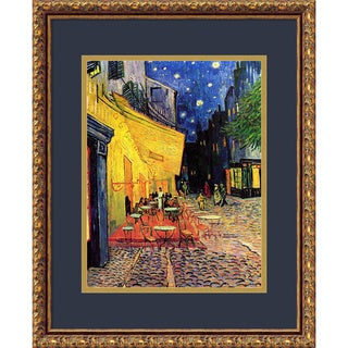 Vincent van Gogh 'Cafe Terrace At Night, 1888' Framed Art Print 18 x 22-inch