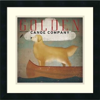 Ryan Fowler 'Golden Dog Canoe Co. (left face)' Framed Art Print 18 x 18-inch