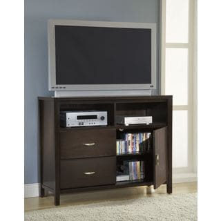 Tapered Leg Media Chest with Half Moon Pull
