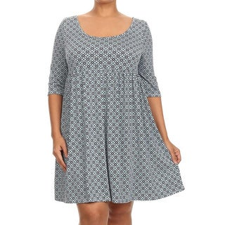 MOA Collection Plus Size Women's Pleated Dress