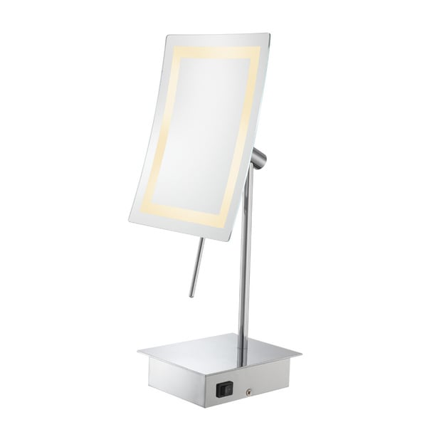 LED Lighted Rectangular Freestanding Mirror