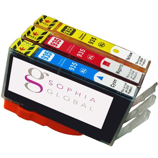 Sophia Global Compatible Ink Cartridge Replacement for HP 935XL (1 Cyan, 1 Magenta, 1 Yellow)