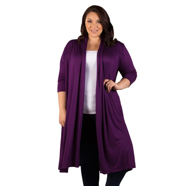 Sealed with a Kiss Women's Plus Size Parker Long Cardigan