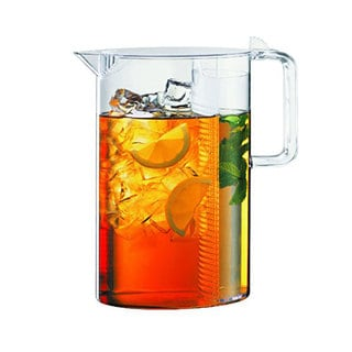 Bodum 10619-10US Ceylon Iced Tea Jug with Filter, 101-ounce., Clear