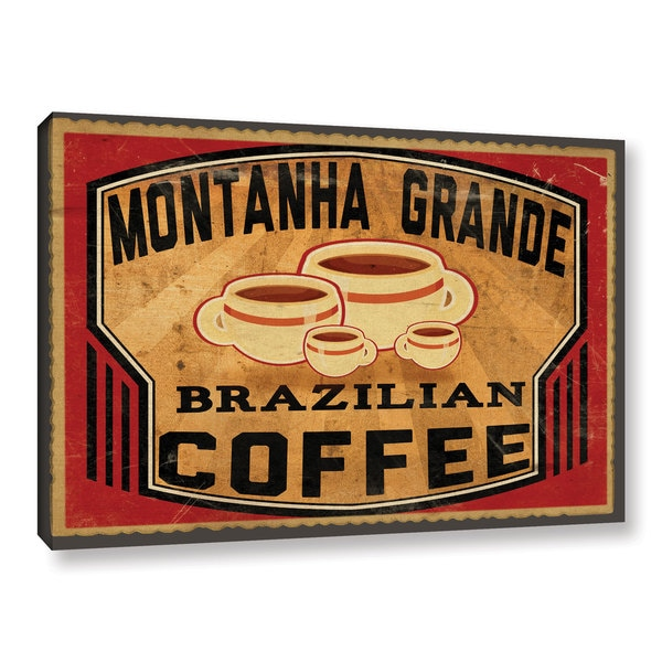 ArtWall Jason Giacopelli's Brazilian Coffee Gallery Wrapped Canvas